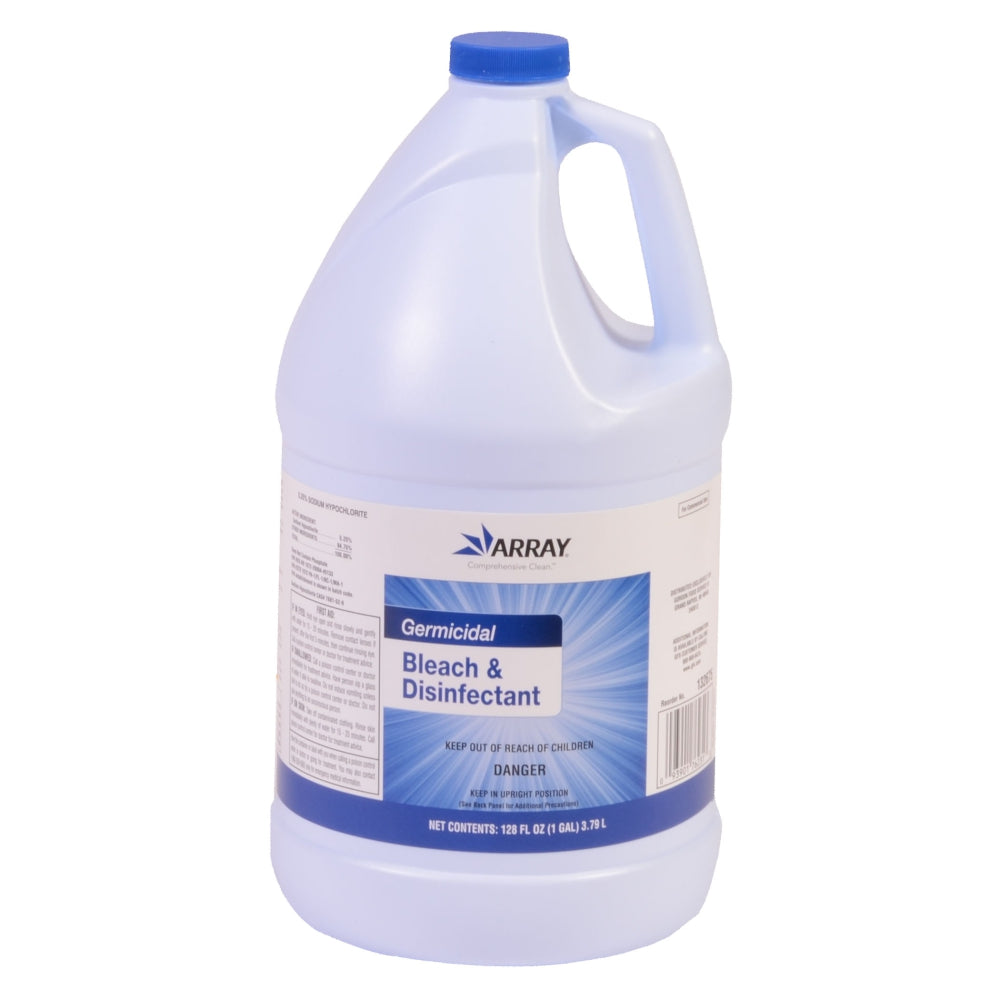 Array Concentrated Liquid Germicidal Bleach & Disinfectant, 5.25%, 1 Gal,