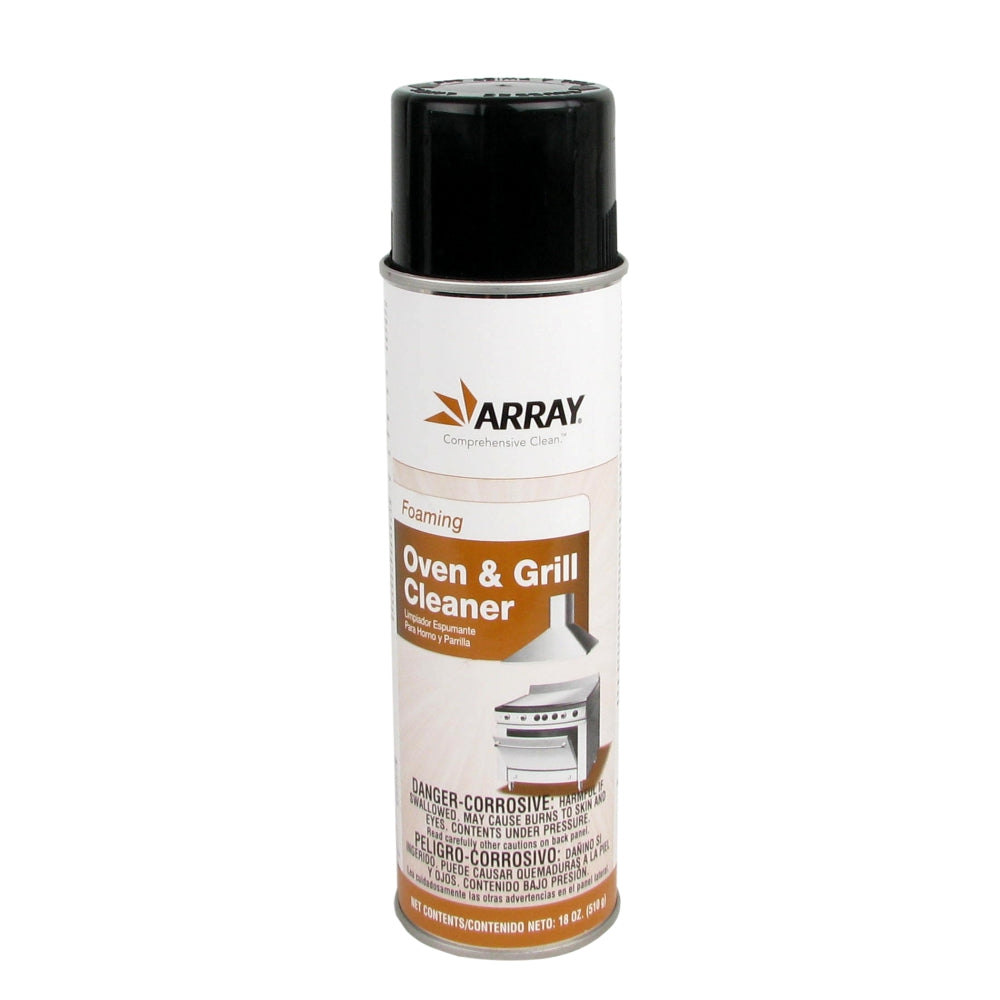Array Ready-to-Use Oven & Grill Cleaner, Foaming Aerosol, 18 Oz