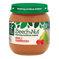 BEACH-NUT STAGE2 PEARS & RASPBERRY 4OZ 10 COUNT***SHIP TO ORDER BY NOON MONDAY'S ARRIVING THE FOLLOWING MONDAY FOR DELIVERY***