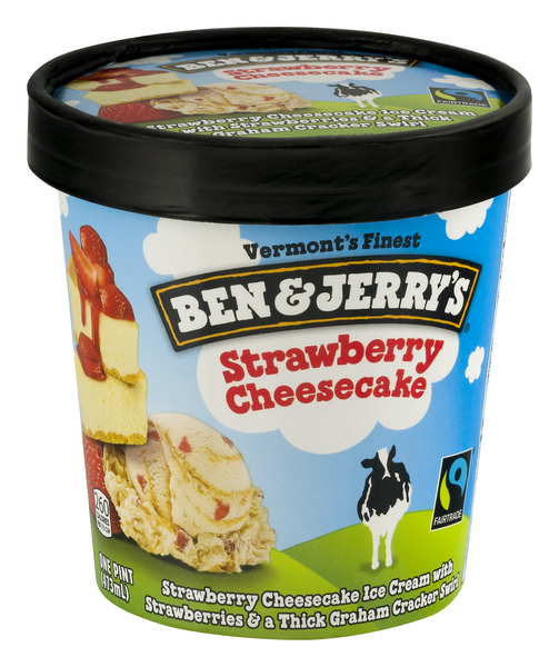 BEN & JERRY'S STRAWBERRY CHEESCAKE 16 OZ