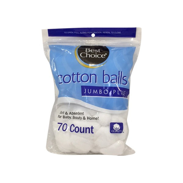 BEST CHOICE 100% JUMBO SIZE COTTON BALLS 70 CT
