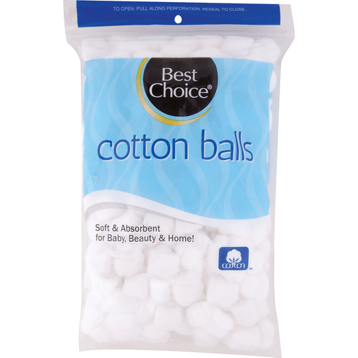 BEST CHOICE 100% COTTON BALLS REG SIZE 300 CT