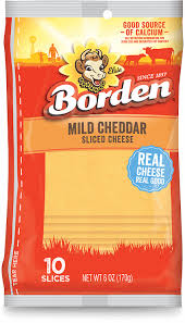 BORDEN MILD CHEDDAR SLICED CHEESE 6 OZ