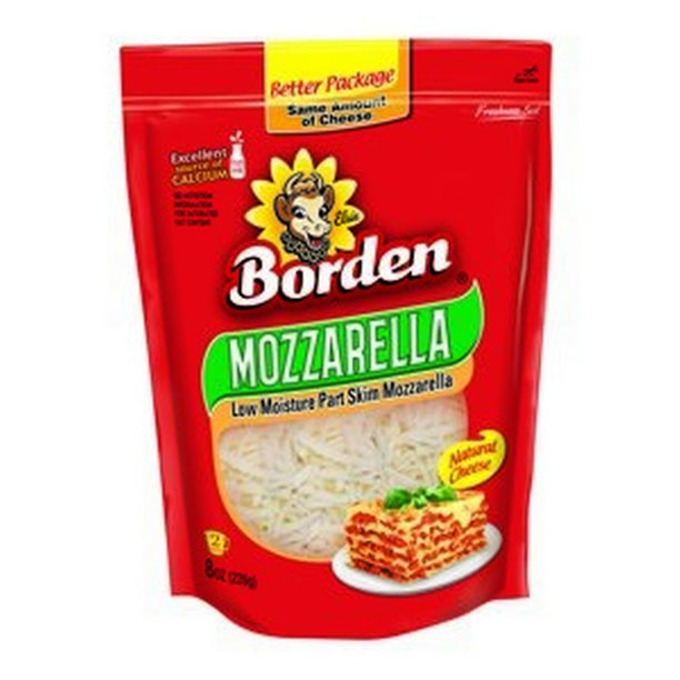 BORDEN SHREDDED MOZZARELLA CHEESE 8 OZ
