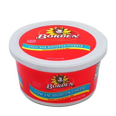 BORDEN RICOTTA CHEESE LOW FAT 15 oz
