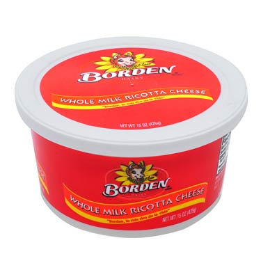 BORDEN RICOTTA CHEESE WHOLE MILK 15 oz