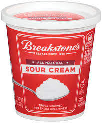 BREAKSTONE'S ALL NATURAL SOUR CREAM 8 OZ-