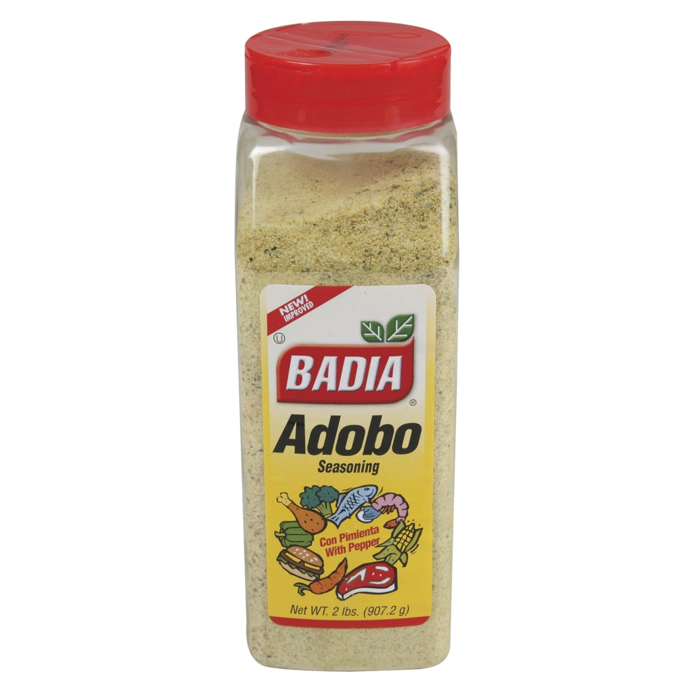 Badia Adobo Seasoning, with Pepper, 32 Oz Each