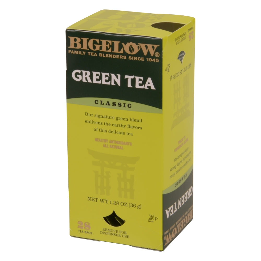 Bigelow Green Tea, Individually Wrapped With String, 28 Ct