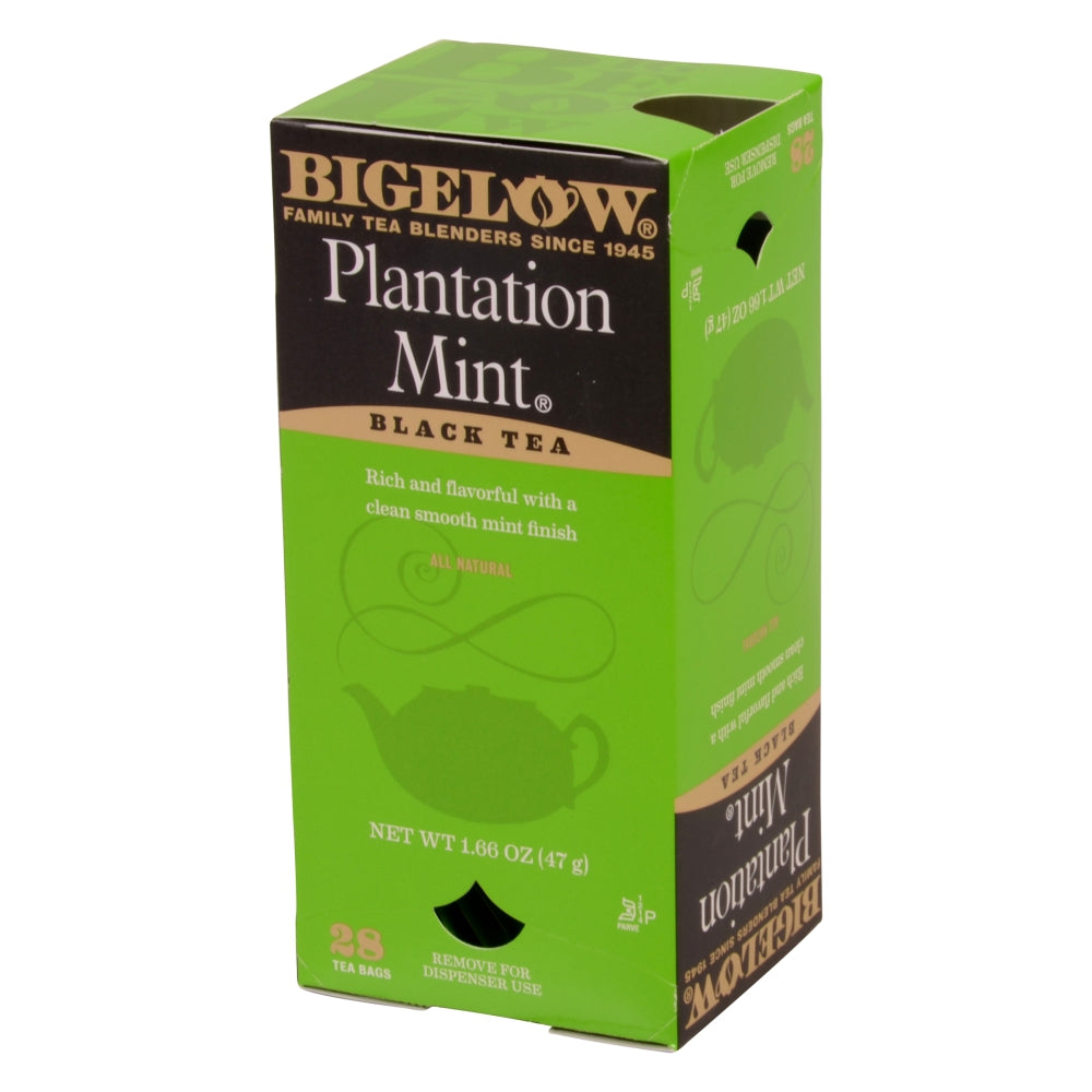 Bigelow Plantation Mint Black Tea, Individually Wrapped With String, 28 Ct