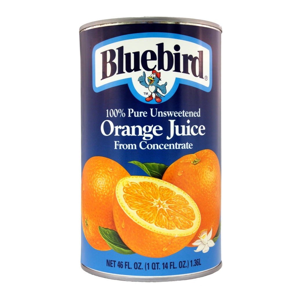 Bluebird 100% Orange Juice, Shelf-Stable, Can, 46 Fl Oz Can