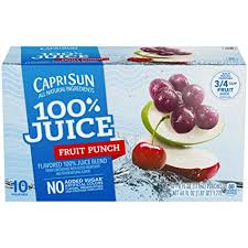 CAPRISUN 100% JUICE FRT PUNCH 6.0 OZ 10 COUNT 4PK***SHIP TO ORDER BY NOON ON MONDAY'S ARRIVING THE FOLLOWING MONDAY FOR DELIVERY***