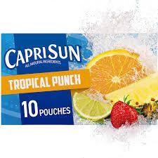 CAPRISUN TROPICAL PUNCH 6.0 OZ 10 COUNT 4PK***SHIP TO ORDER BY NOON ON MONDAY'S ARRIVING THE FOLLOWING MONDAY FOR DELIVERY***