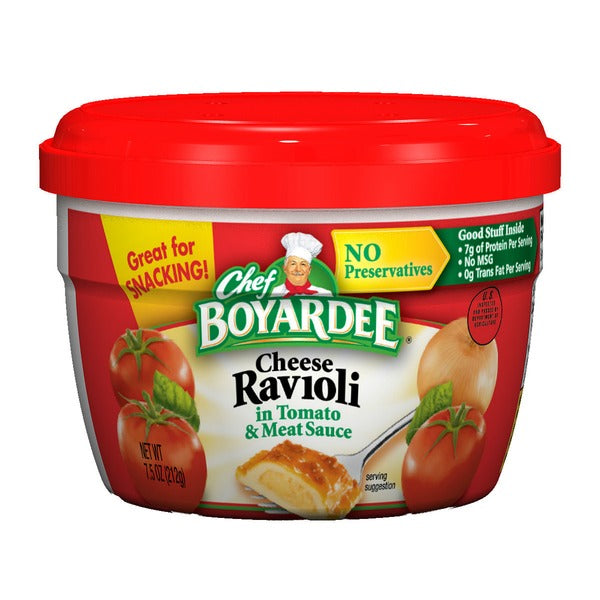 CHEF BOYARDEE CHEESE RAVIOLI MICROWAVEABLE BOWL 7.5 OZ