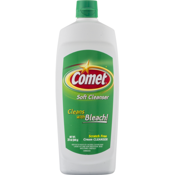 COMET SOFT CREAM CLEANSER WITH BLEACH 24 OZ***SHIP TO ORDER BY EVERY SUNDAY ARRIVES THE NEXT WEEK'S TUESDAY FOR DELIVERY***
