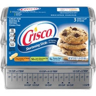 CRISCO SHORTENING STICKS 20 OZ (3 ONE CUP STICKS)