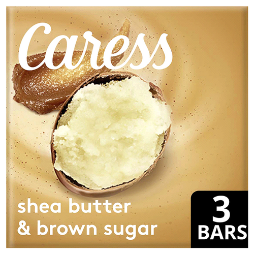 Caress Shea Butter and Brown Sugar Exfoliating Beauty Bar 3 ct