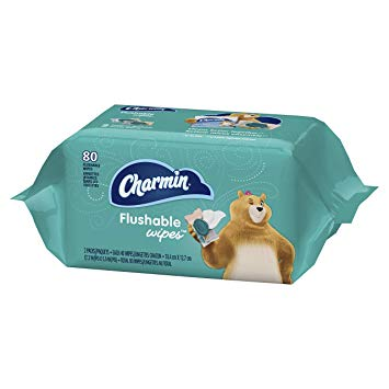 Charmin Flushable Wipes, 80 count