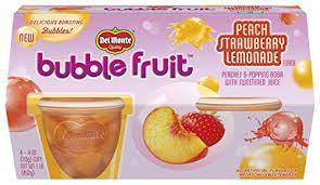 DEL MONTE BUBLE FRUIT PEACH STRAWBERRY LEMONADE 4OZ 4PCK 6 CT***SHIP TO ORDER BY NOON ON MONDAY'S ARRIVING THE FOLLOWING MONDAY FOR DELIVERY***