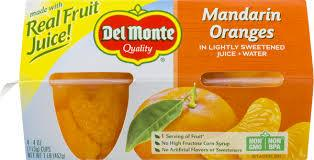 DEL MONTE MANDARINE ORANGE NO SUGAR 4PK 4OZ 6 CT***SHIP TO ORDER BY NOON ON MONDAY'S ARRIVING THE FOLLOWING MONDAY FOR DELIVERY***