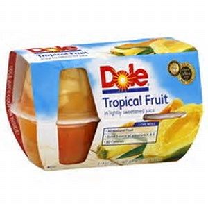 DOLE TROPICAL FRUIT CUP 4 OZ