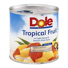 DOLE TROPICAL FRUIT SALAD 15 OZ 12 CT***SHIP TO ORDER BY NOON ON MONDAY'S ARRIVING THE FOLLOWING MONDAY FOR DELIVERY***