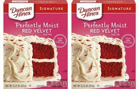 DUNCAN HINES SIGNATURE RED VELVET 15.25 OZ