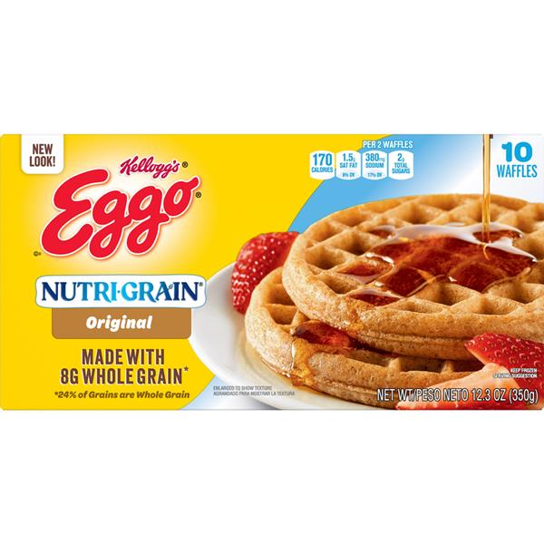 EGGO NUTRI-GRAIN WHOLE WHEAT WAFFLES 10 CT