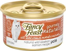 FANCY FEAST GOURMET NATURALS ALASKAN SALMON 3 OZ 12 COUNT***SHIP TO ORDER BY NOON ON MONDAY'S ARRIVING THE FOLLOWING MONDAY FOR DELIVERY***