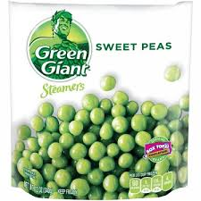 GREEN GIANT STEAMERS SWEET PEAS 10 OZ