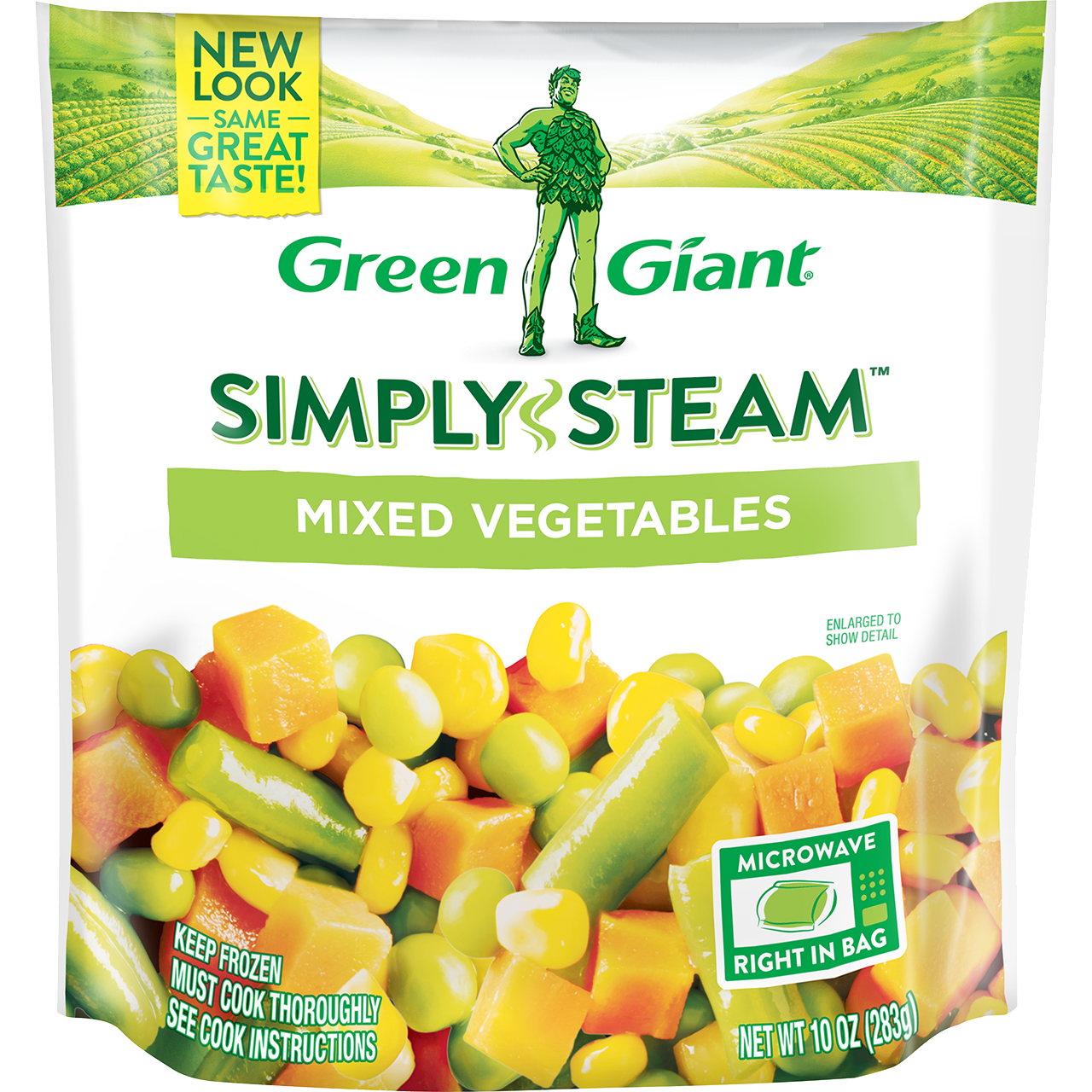 GREEN GIANT STEAMERS MIX VEGETABLE 12 OZ