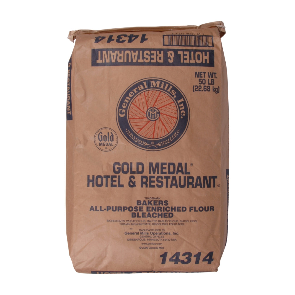 General Mills Bleached All-Purpose Flour, 50 Lb Bag