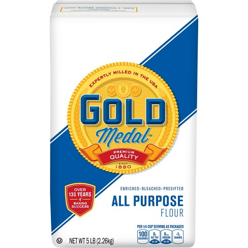 Gold Medal Enriched Bleached Flour, All-Purpose, 5 lb