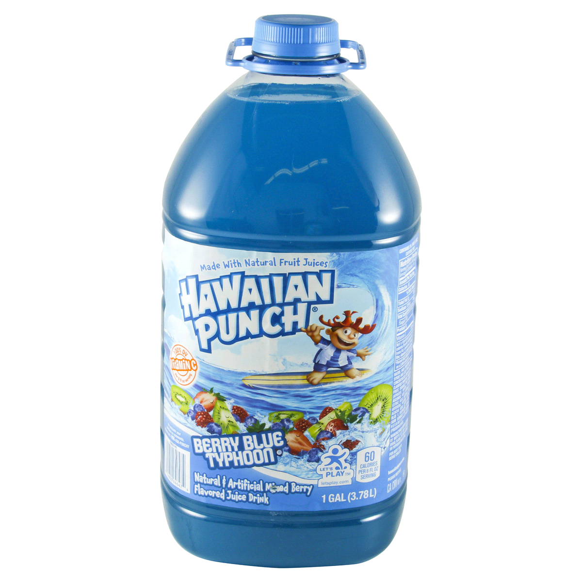 HAWAIIAN PUNCH BLUE BERRY TYPHOON 128 OZ 4 COUNT***SHIP TO ORDER BY NOON ON MONDAY'S ARRIVING THE FOLLOWING MONDAY FOR DELIVERY***