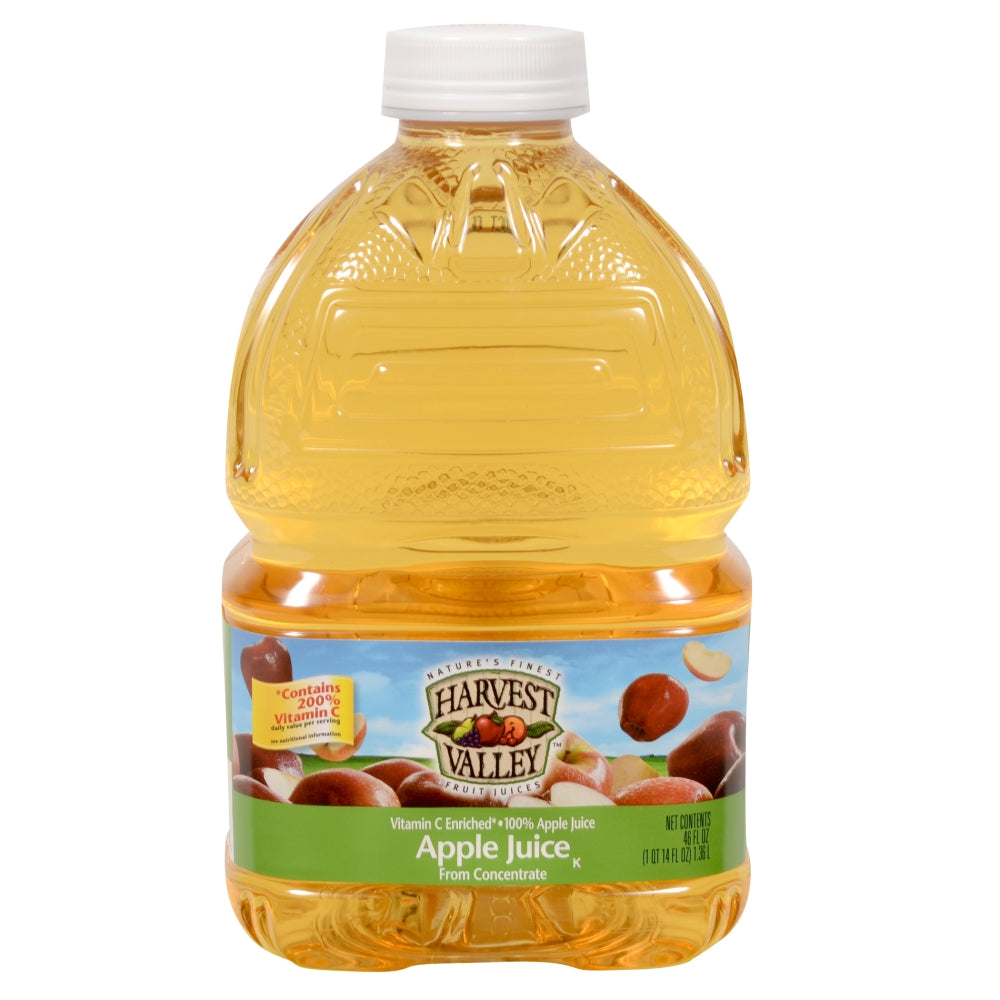 Harvest Valley 100% Apple Juice, Shelf-Stable, 46 Fl Oz