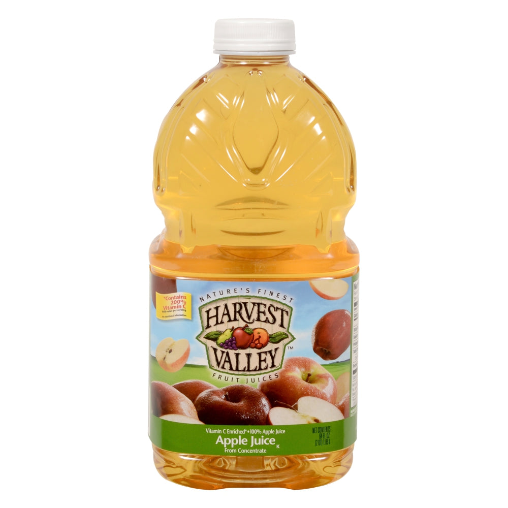 Harvest Valley 100% Apple Juice, Shelf-Stable, 64 Fl Oz