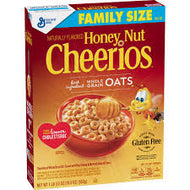 Honey Nut Cheerios, Gluten Free, Cereal, Family Size, 19.5 oz