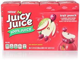 JUICY JUICE FRUIT PUNCH 100% JUICE 8 PK 6.75 OZ 4 COUNT #ROCK VALUE PRODUCT ORDER BY SUNDAY EVENING'S ARRIVING NEXT WEEKS' TUESDAY FOR DELIVERY#