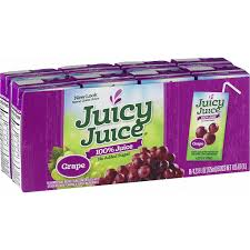 JUICY JUICE SLIM 100% GRAPE JUICE 8PK 6.75 OZ 4 COUNT #ROCK VALUE PRODUCT ORDER BY SUNDAY EVENING'S ARRIVING NEXT WEEKS' TUESDAY FOR DELIVERY#