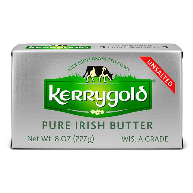 KERRYGOLD PURE IRISH UNSALTED BUTTER 8 OZ