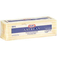 KRAFT AMERICAN WHITE CHEESE SLICES 120 CT 5 LB