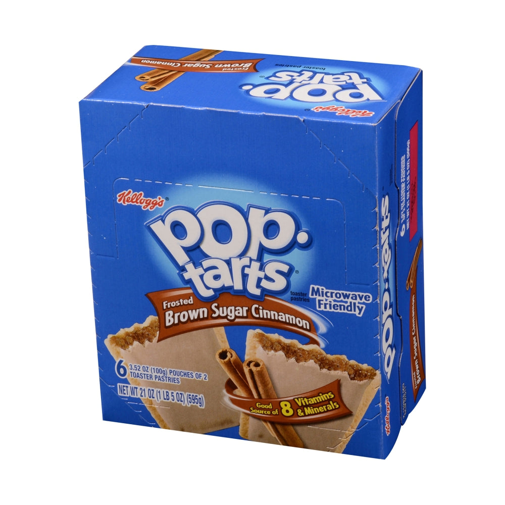 Kellogg's Pop-Tart Frosted Brown Sugar Pastry, 2 Individually Wrapped, 6 Pk, 12Case