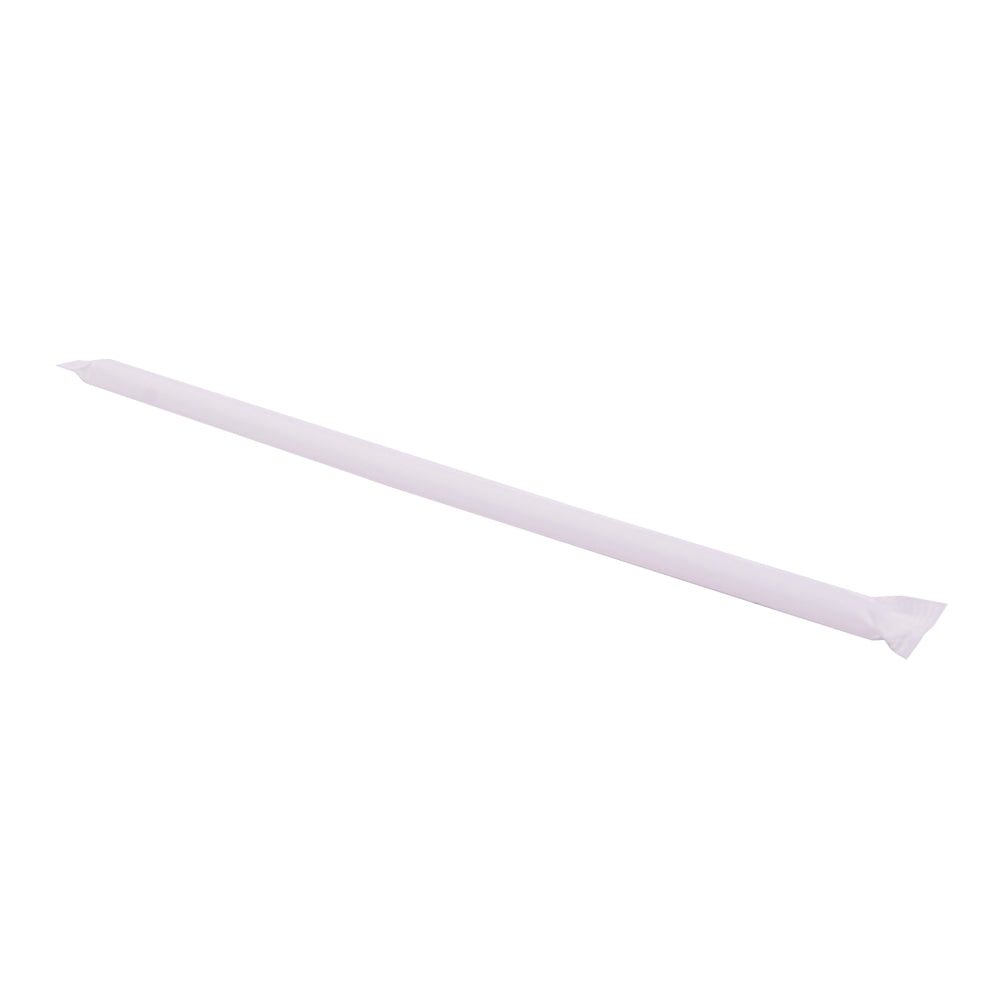 Kitchen Essentials 7.75 Inch Plastic Jumbo Straws, Translucent, Paper-Wrapped, Polypropylene, 500 Ct Box,
