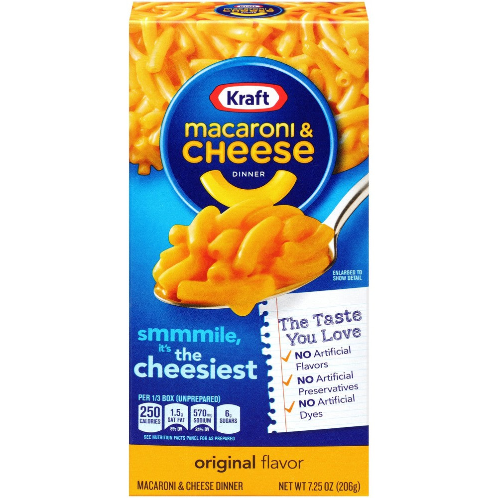 Kraft Macaroni Cheese Smaller Pack 7.25 oz