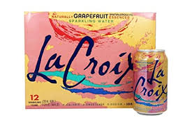 LACROIX SPARKLING WATER GRAPEFRUIT 12 OZ 12 COUNT 2 PACK #ROCK VALUE PRODUCT ORDER BY SUNDAY EVENING'S ARRIVING NEXT WEEKS' TUESDAY FOR DELIVERY#
