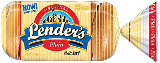 LENDER'S ORIGINAL PLAIN BAGEL 6 CT 12 OZ