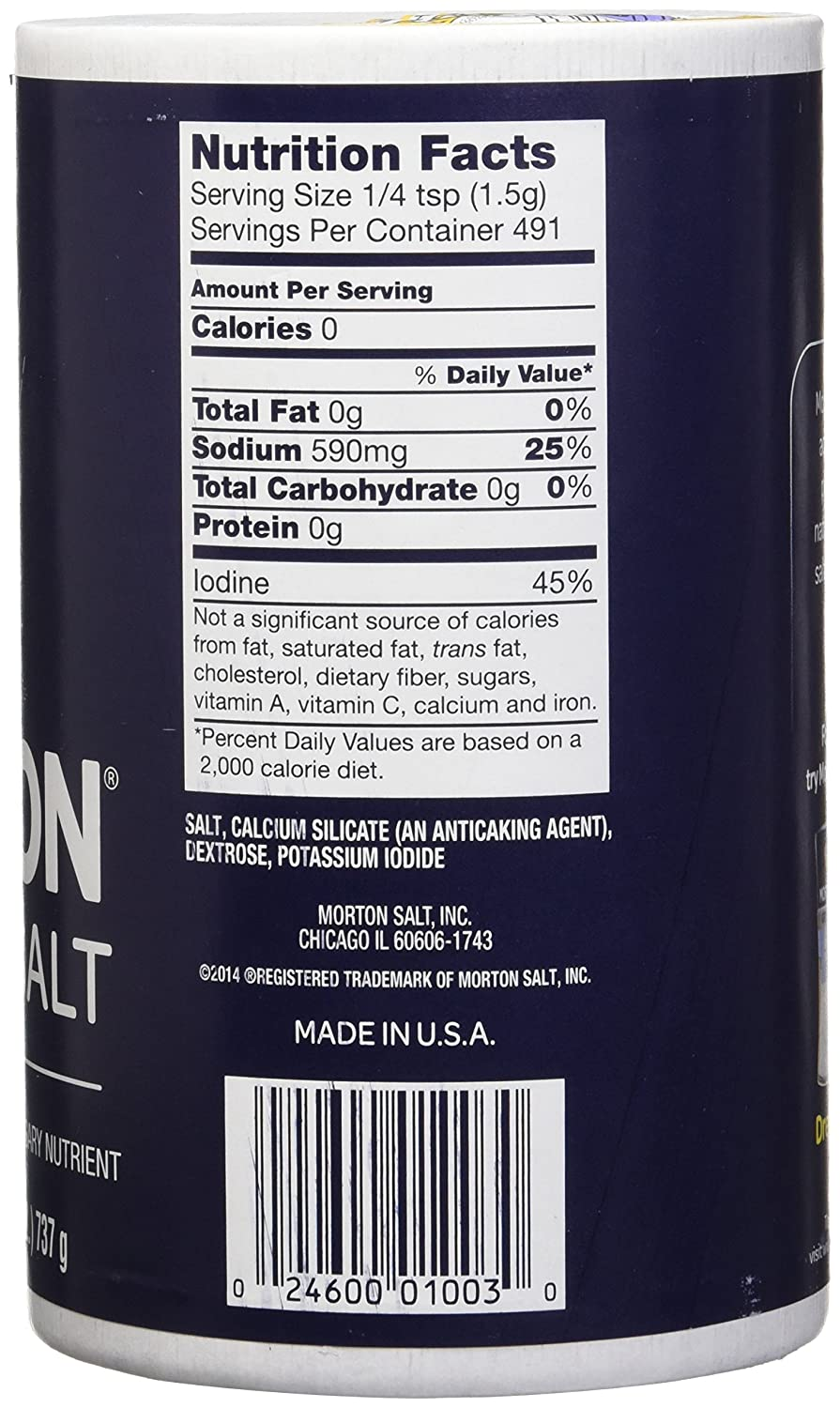 Morton Salt Iodized Sea Salt 26 oz