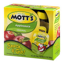 MOTTS SNACK & GO APPLESAUCE 4 PK 3.2 OZ
