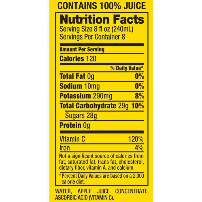 Motts Natural 100% Apple Juice, 64 Fl Oz