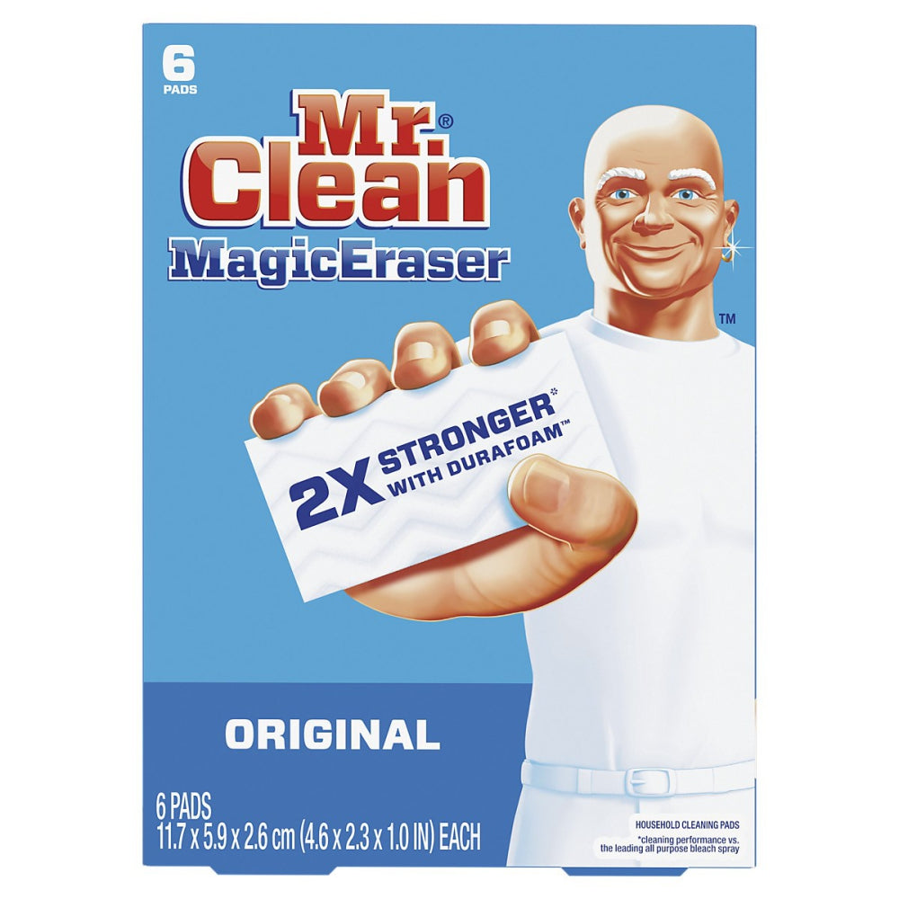 Mr Clean Cleaning Pads, White & Blue, 6 Ct